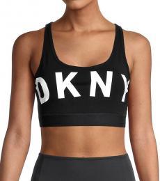 DKNY Black White Low Impact Sports Bra
