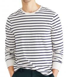 J.Crew Mountain White Striped T-Shirt