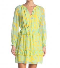 Diane Von Furstenberg Lace Sunray Geometric Print Dress
