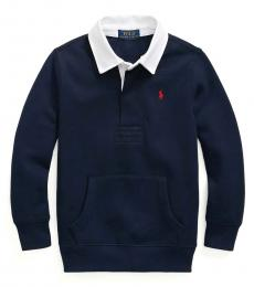 Ralph Lauren Little Boys Cruise Navy Rugby Sweatshirt