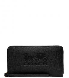 Black Logo Phone Wallet