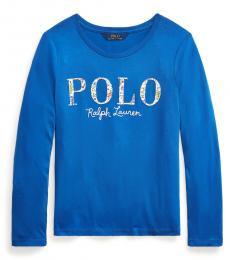 Ralph Lauren Girls Boysenberry Logo Jersey Long-Sleeve T-Shirt