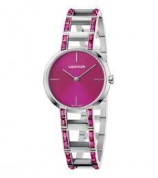 Calvin Klein Silver Pink Dial Watch
