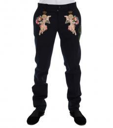 Dolce & Gabbana Blue Western Print Pants