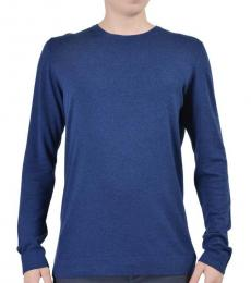 Navy Cashmere Knitted Sweater