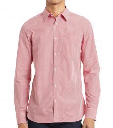 Calvin Klein High Risk Red Gingham Slim-Fit Shirt