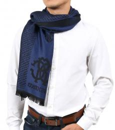 Black-Blue Logo Modish Scarf
