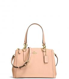 Natural Pink Christie Small Satchel