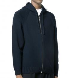 Navy Blue Logo Zipper Jacket