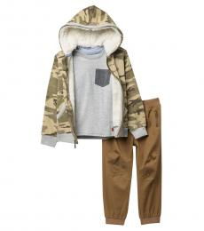 7 For All Mankind 3 Piece Hoodie/T-Shirt/Pants Set (Little Boys)