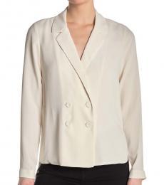 BCBGMaxazria White Double Breasted  Jacket