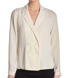BCBGMaxazria White Double Breasted  Jacket
