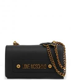 Black Solid Small Shoulder Bag