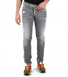 Light Grey Distressed Slim Jeans