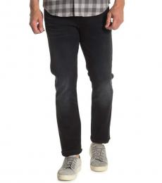 Black Adrien Slim Straight Jeans