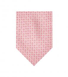 Pink Alternating Dot Silk Tie