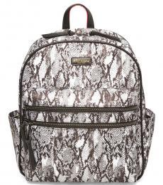 Betsey Johnson Black White Gone Wild Large Backpack
