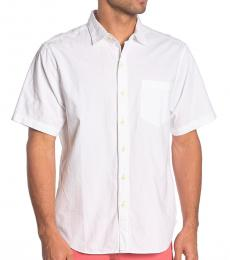 White-Short Sleeve Regular Fit Shirt