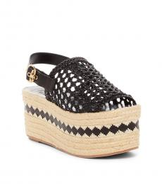 Black Dandy Woven Sandals
