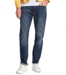 Lucky Brand Dark Blue Athletic Straight Leg Jeans
