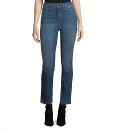 Rag And Bone Blue High-Rise Slim-Fit Jeans
