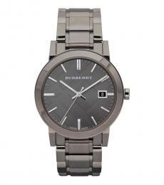 Burberry Grey Classic Round Watch