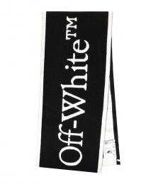 Off-White Black-White Logo Scarf