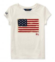 Ralph Lauren Little Girls Nevis Patriotic T-Shirt