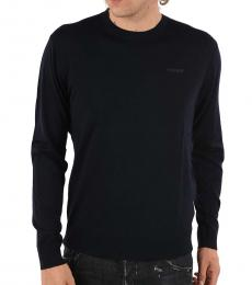 Dsquared2 Navy Blue Crew-Neck Sweater
