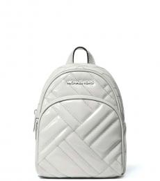 Michael Kors Aluminium Grey Abbey Quilted Mini Backpack