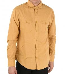 Armani Jeans Mustard Custom Fit Shirt