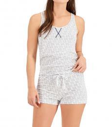Calvin Klein New Little Classic Logo Patriotic Blue Racerback Tank Shorts Pajama Set