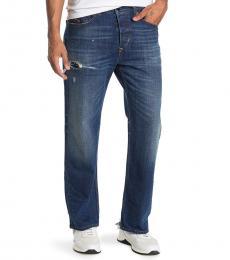 Diesel Blue Kodeck Straight Leg Jeans