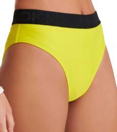 DKNY Yellow High Waist Bottom