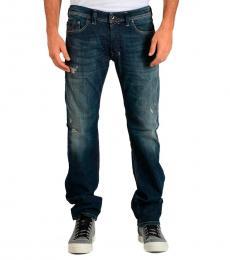 Diesel Dark Blue Stretch Denim Safado Jeans