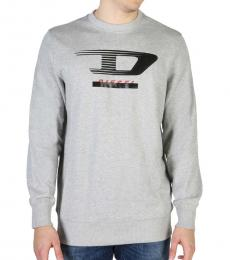 Diesel Grey Front Logo Sweatshirts
