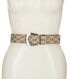 Michael Kors Natural-Black Reversible Logo Belt