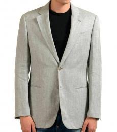 Armani Collezioni Grey Linen Sport Coat