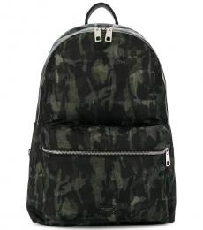 Black Camo Large Backpack