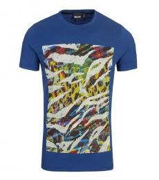 Dark Blue Graphic Print T-Shirt