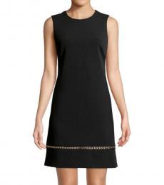 Black Grommet Sleeveless Dress