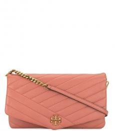 Tory Burch Pink Kira Medium Shoulder Bag