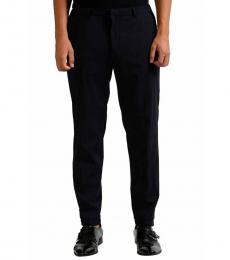 Navy Blue Wool Dress Pants