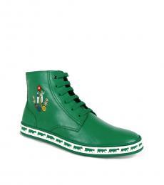 Bally Emerald Anistern Hi Top Sneakers