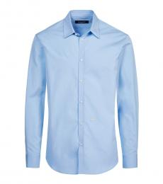 Dsquared2 Light Blue Solid Shirt