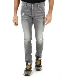 Dsquared2 Light Grey Stone Washed Cool Jeans