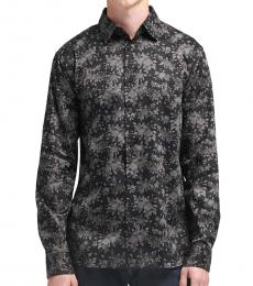 Black Dark Floral Shirt