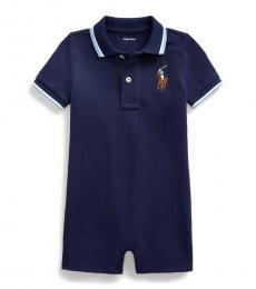 Ralph Lauren Baby Boys Newport Navy Polo Shortall