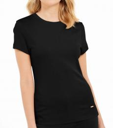 Calvin Klein Black Crew Neck Cotton Top