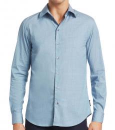 Emporio Armani Blue Dot Button-Down Shirt